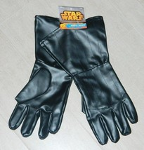 Star Wars Darth Vader Adult Black Gloves Costume Prop Accessory NEW UNUSED - £11.90 GBP