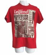 3FORTY INC Chicago Bulls Utah Jazz T SHIRT Red Men Size Medium Street Bu... - $15.76