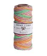 1mm NEON BLEND HEMP CORD 205 ft Spool ~ pink/lime/yellow/orange Craft Twine 20# - $8.90