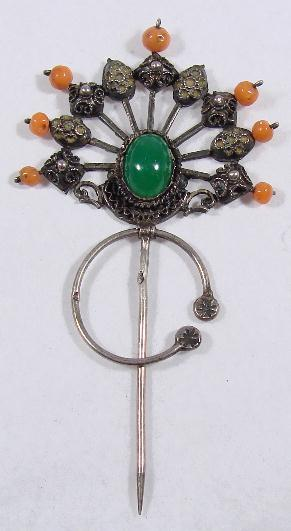 ANTIQUE GEMSET TARA PIN