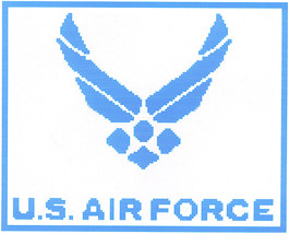Air Force Crochet Graph Afghan Pattern - $5.00