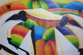 Signed A.E African Caribbean Contemporary Modern Museum Gallery Haitian ... - $999.99