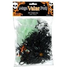 Halloween Creatures 48 Ct Mega Value Favor Pack Spider Skeleton Bat - $12.26 CAD