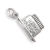 Sterling Silver Birthday Cake with Candles Charm - $17.99