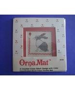 Mini Rabbit Ornamat cross stitch chart with dou... - $6.00