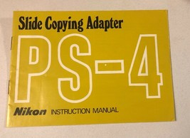 NIKON PS-4 SLIDE COPYING ADAPTER INSTRUCTION MANUAL -PS4 Printed In Japan - $23.76