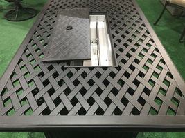 Cast aluminum propane fire pit table coffee outdoor patio furniture Desert Bronz image 3