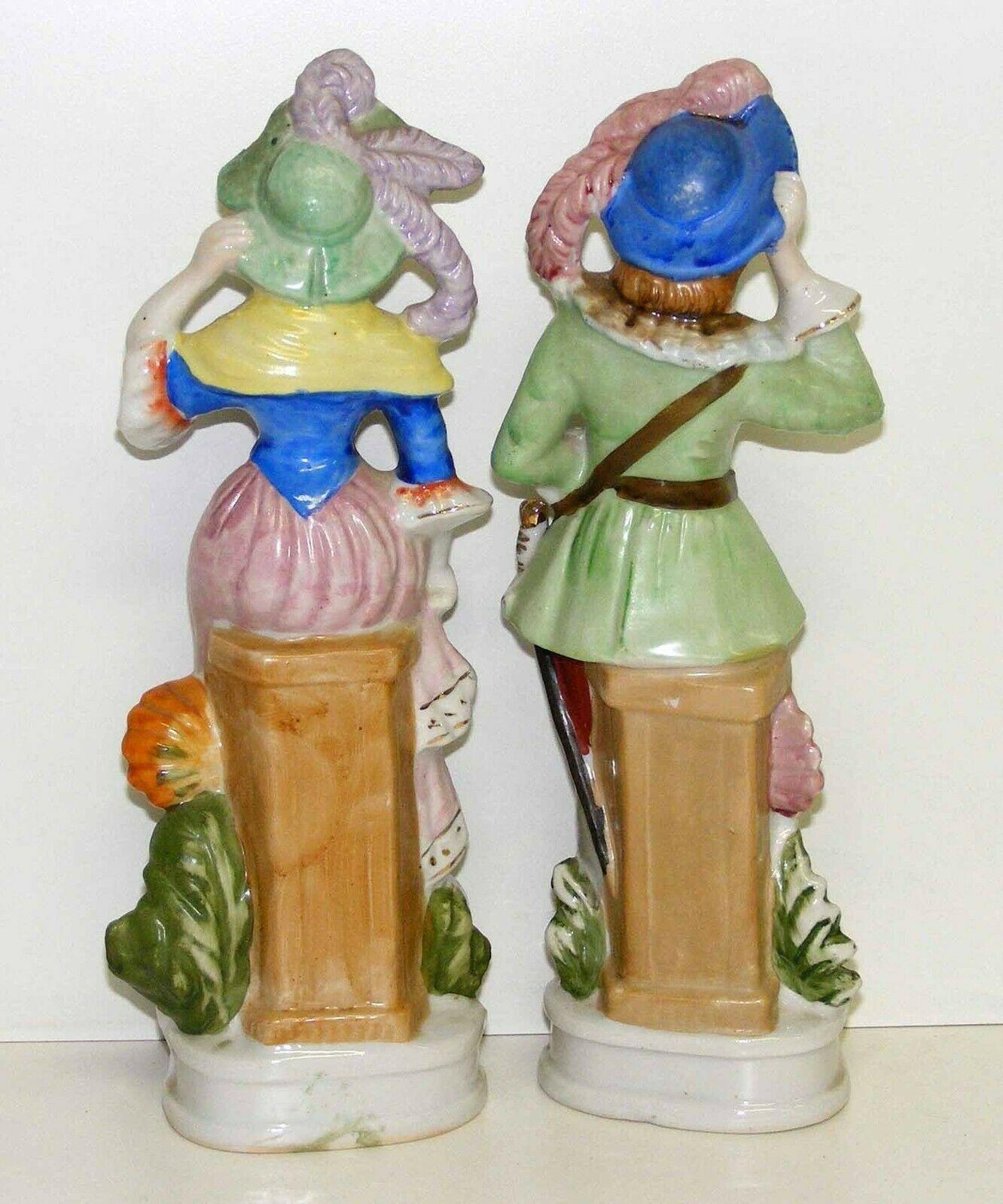 """Vintage Pair of 10"""" Figurines - Japan"""