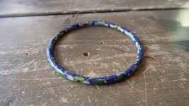 "Antique Vintage Blue Cloisonne Bracelet Inner Diameter 2.25"" - $23.75"