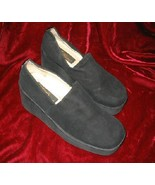 Womens Via Ravia Black Suede Shoes Pump Platform Sz 7.5 - $13.99