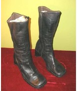 Nice Gama Studio Black Leather High Boots Italy Sz 7 - $14.99