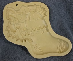 Brown Bag Cookie Art Child's Stocking Mold Hill Design 1994 Christmas - $17.95