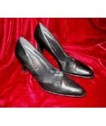 Womens Black Nine West Leather Shoes Pump 8.5 M - $12.50