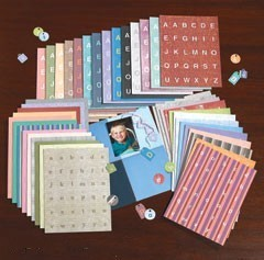 ~Huge Lot of Alphabet Die-cut Tags~3800 Pcs~120 Sheets~