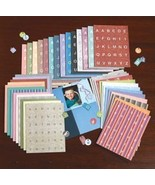 ~Huge Lot of Alphabet Die-cut Tags~3800 Pcs~... - $18.95