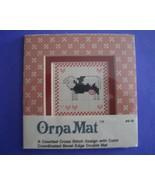 Mini Cow Ornamat cross stitch chart with double... - $6.00