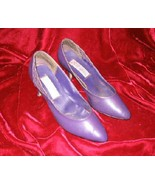 Salvatini Purple Leather Shoes Pump Heel 8.5 - $12.00