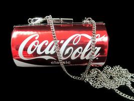 Coca-Cola Can Shaped Evening Coin Metallic Bag Detachable Chain Strap - $27.97