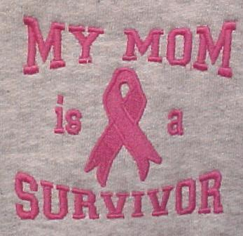 Pink Ribbon Awareness Hoodie S My Mom is a Survivor Gray Sweatshirt Unisex New