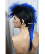 Unisex MOHAWK Quality Wig for men or women.  Black and Blue! - $26.99