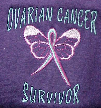 Ovarian Cancer Awareness Large Teal Butterfly Purple Crew Sweatshirt Unisex New