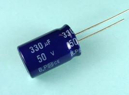 4 pcs Panasonic SU 330uF 50v BP NP Bi-polar Radial Electrolytic Capacitor - $5.39