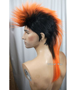 Unisex MOHAWK Quality Wig for men or women.  Black tipped in Orange! - $26.99