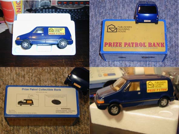 PUBLISHERS CLEARING HOUSE  PRIZE PATROL BANK  WITH  BOX