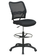 Air Grid Back Mesh Seat Adjustable Round Footring Drafting Chair Stool 1... - $239.00
