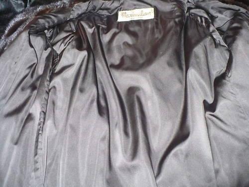 Mint designer Maximilian Black brown Mink Fur Coat Jacket Stroller S-M 0-8