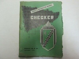 1949 Checker Model A2 A3 Parts and Instruction Manual FACTORY OEM BOOK - $118.79