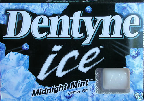 Dentyne Ice Midnight Mint Chewing Gum Breath Fresh 12.6g Free Shipping