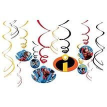 "amscan Disney/Pixar Incredibles 2"" Swirl Value Pack 12ct, Party Favor - $8.86"