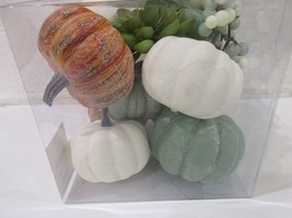 (12) ORANGE BLUE PUMPKINS FALL HALLOWEEN THANKSGIVING BOWL FILLER TABLET... - $550,49 MXN