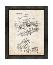 Sand Trap Rake For Golf Courses Patent Print Old Look with Beveled Wood ... - $24.95+