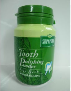 Supaporn Tooth Powder Polishing Plus Thai Herb 90gSupaporn Tooth Powder Polishin