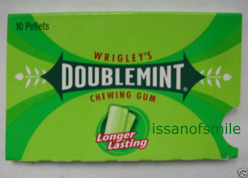 Wrigley's Doublemint Chewing Gum Longer Lasting 14.6 g (10 Pellets)