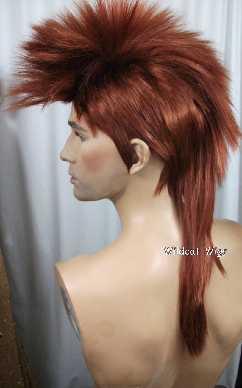 Unisex MOHAWK Quality Wig for men or women.  Fox Red!