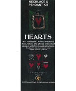 Hearts Necklace Pendant Kit cross stitch kit Carousel Charts - $10.80