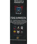 Halloween Necklace Pendant Kit cross stitch kit Carousel Charts - $10.80