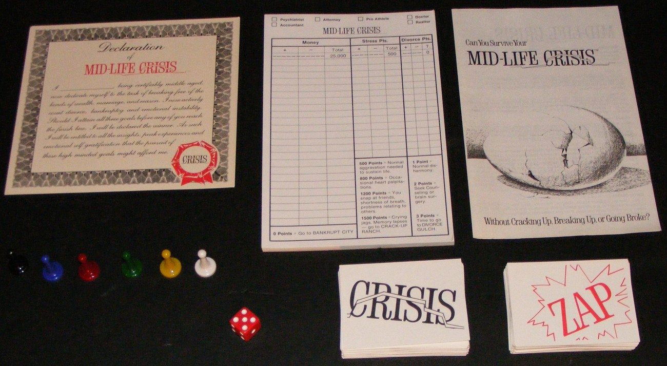 1982 Mid-Life Crisis Board Game