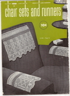 Chair Sets and Runners Book No 261 Crochet Spool Cotton