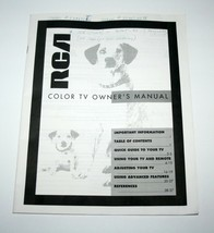 Vintage RCA Color TV Owners Manual, 1993 - $10.59