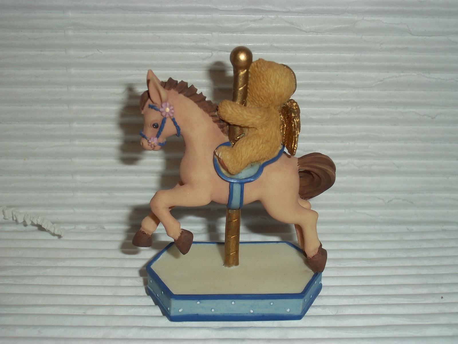 Retired Cherished Teddies September 2000 Carousel #755311 Enesco Angel Bear