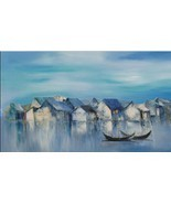 Dawn, a 24 high x 40 commission original oil painting on canvas by Phuong  - $299.00