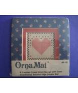 Mini Heart Ornamat cross stitch chart with doub... - $6.00