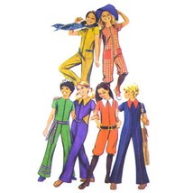 1970s Vintage Simplicity Sewing Pattern 9591 Girls Front Zip Jumpsuit Ro... - $6.95