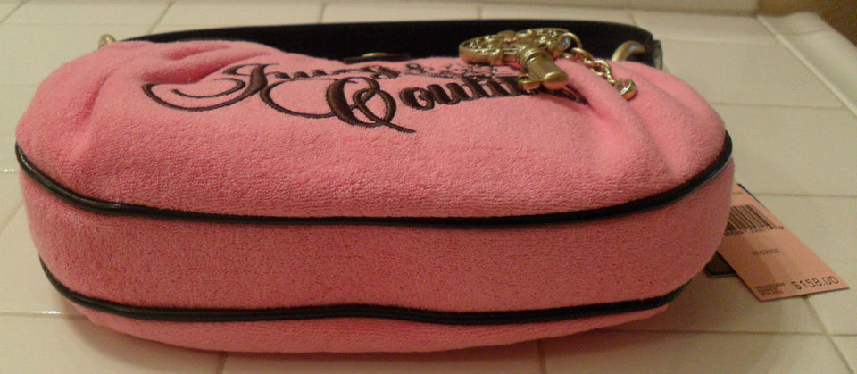 NWT JUICY COUTURE Beatrice Pink Terry Shoulder Bag Handbag NEW (MAKE AN OFFER)