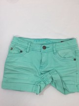 Arizona Girls Shorts Turquoise Regular Fit Cotton Stretch Above Knee Size 8 - $11.30