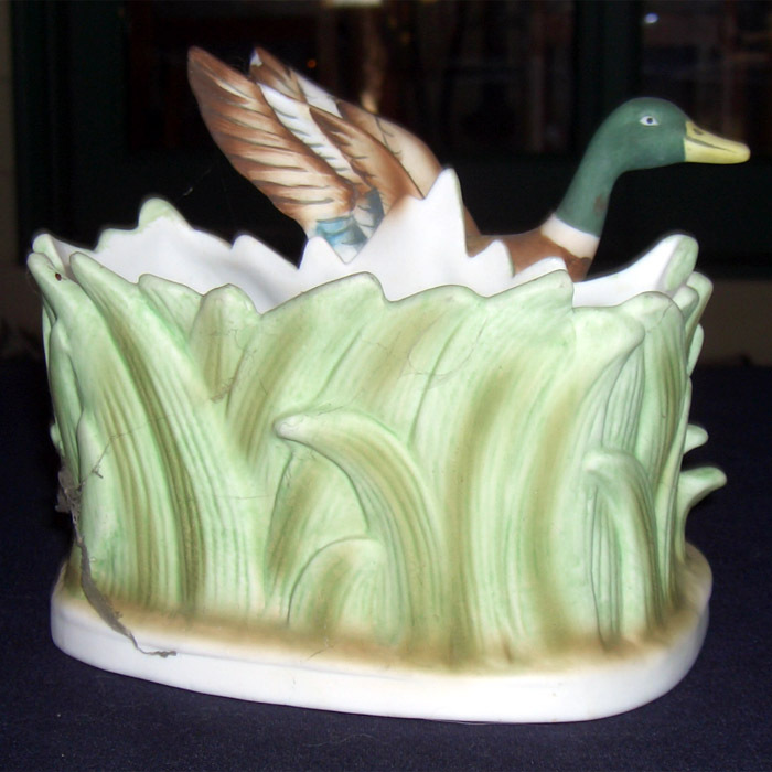 Lefton China Duck Planter  KW905 Touch of masculinity...